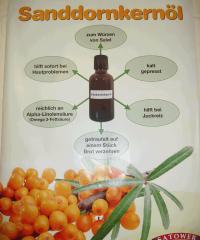 Fakten zum Sanddornkernöl - gesund würzen
